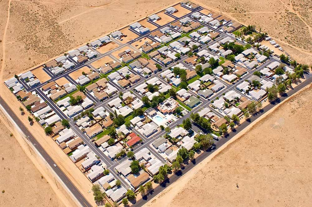 Aerial View Of Our Apple Valley CA Mobile Home Park